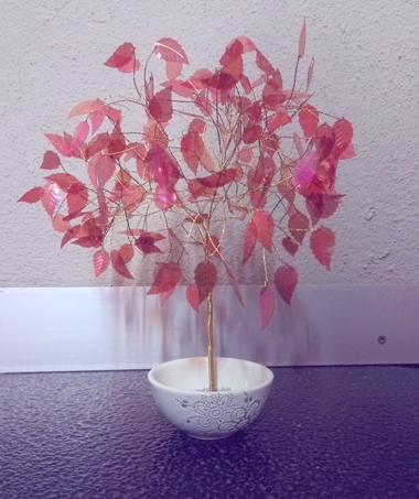rose leaf crystal tree